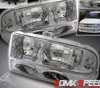 Custom - Crystal Headlights With Bumper Lights