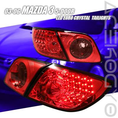 Custom - Euro Red LED Tail lights