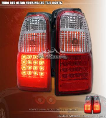 Custom - Red Clear LED Tail Lights