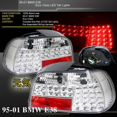 Custom - E38 LED Euro Tail Lights
