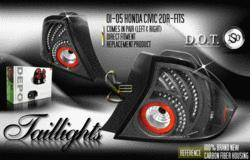 Custom - Black Altezza LED Tail Lights