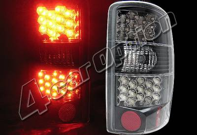 4 Car Option - GMC Yukon 4 Car Option LED Taillights - Black - LT-GYD00LEDJB-KS