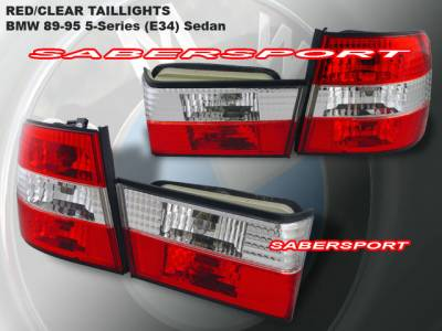 Custom - Euro RED Clear Tail Lights