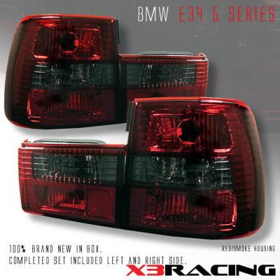Custom - Euro RED Smoked Tail Lights