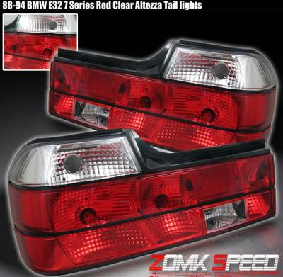 Custom - RED Clear Tail Lights