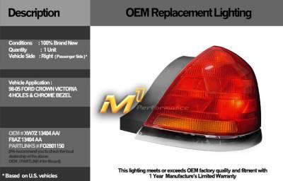 Custom - Crown Victoria OEM Tail Lights