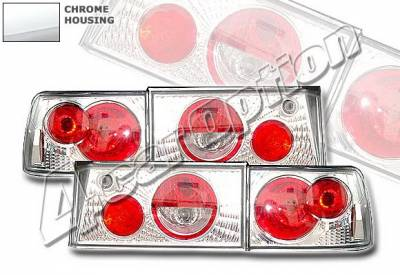 4 Car Option - Honda Accord 4 Car Option Altezza Taillights - V2 - Chrome - LT-HA90A2-KS