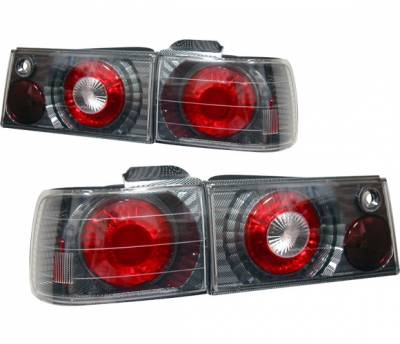 4 Car Option - Honda Accord 4 Car Option Altezza Taillights - V2 - Carbon Fiber Style - LT-HA90F2-YD