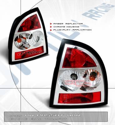Custom - Passat 4Dr Euro Chrome Tail Lights