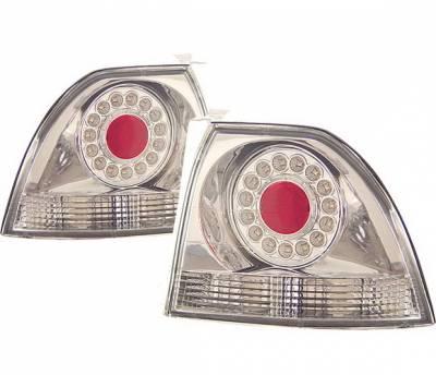 4 Car Option - Honda Accord 4 Car Option LED Taillights - Chrome - LT-HA94LEDC-KS