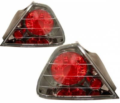 4 Car Option - Honda Accord 2DR 4 Car Option Altezza Taillights - Gunmetal - Side - 2PC - LT-HA982G-YD