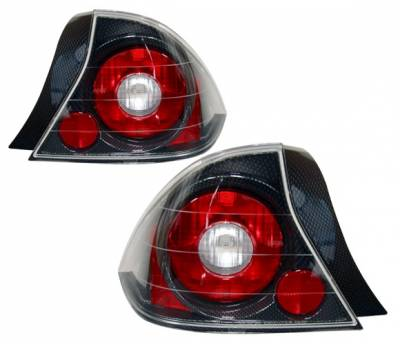 4 Car Option - Honda Civic 2DR 4 Car Option Altezza Taillights - Carbon Fiber Style - LT-HC012F-YD