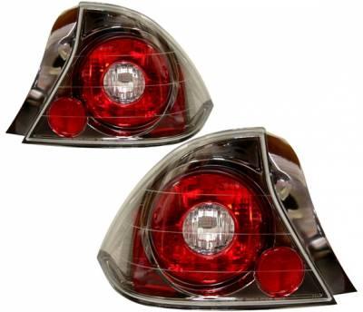 4 Car Option - Honda Civic 2DR 4 Car Option Altezza Taillights - Gunmetal - LT-HC012G-YD