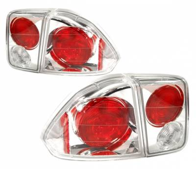 4 Car Option - Honda Civic 4DR 4 Car Option Altezza Taillights - Chrome - LT-HC014A-YD