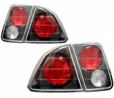 4 Car Option - Honda Civic 4DR 4 Car Option Altezza Taillights - Carbon Fiber Style - LT-HC014F-YD