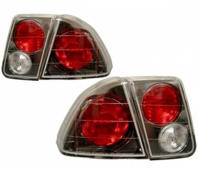 4 Car Option - Honda Civic 4DR 4 Car Option Altezza Taillights - Gunmetal - LT-HC014G-YD