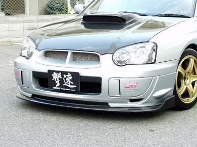 Chargespeed - Subaru Impreza Chargespeed Peanut Eye Latter Bottom Line Type-2 Front Lip