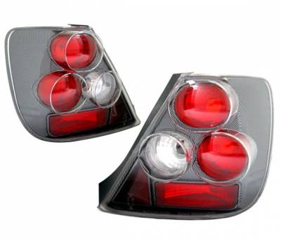 4 Car Option - Honda Civic HB 4 Car Option Altezza Taillights - Carbon Fiber Style - LT-HC03F-YD