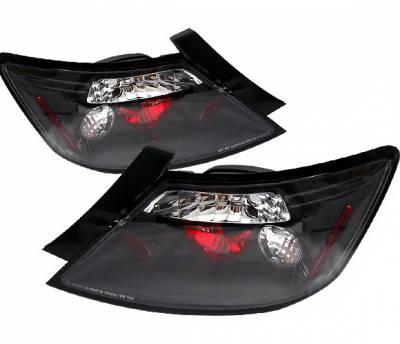 4 Car Option - Honda Civic 2DR 4 Car Option Altezza Taillights - Black - LT-HC062JB-5