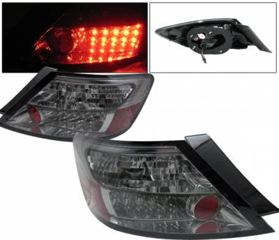 4 Car Option - Honda Civic 2DR 4 Car Option LED Taillights - Smoke - LT-HC062LEDSM-YD