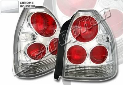 4 Car Option - Honda Civic HB 4 Car Option Altezza Taillights - Chrome - LT-HC963A1-KS