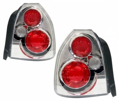 4 Car Option - Honda Civic HB 4 Car Option Altezza Taillights - Chrome - LT-HC963A-YD