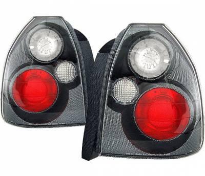 4 Car Option - Honda Civic HB 4 Car Option Altezza Taillights - Carbon Fiber Style - LT-HC963F-YD