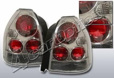 4 Car Option - Honda Civic HB 4 Car Option Altezza Taillights - Gunmetal - LT-HC963G1-KS