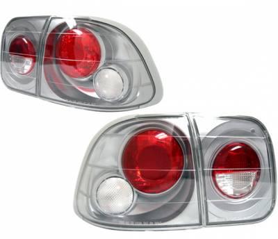 4 Car Option - Honda Civic 4DR 4 Car Option Altezza Taillights - Titanium - LT-HC964AD-YD