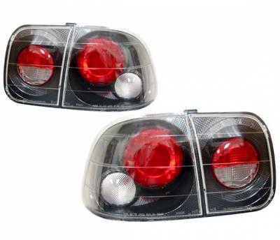 4 Car Option - Honda Civic 4DR 4 Car Option Altezza Taillights - Carbon Fiber Style - LT-HC964F-YD