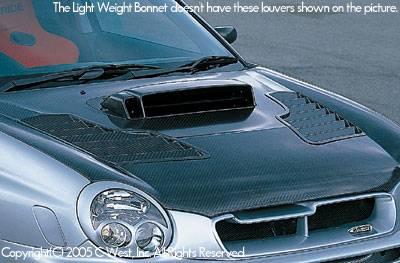 C-West - Zenki Light Weight Bonnet Without Louver