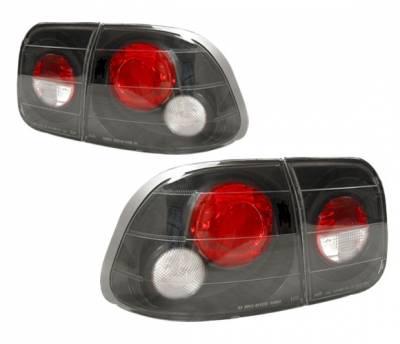 4 Car Option - Honda Civic 4DR 4 Car Option Altezza Taillights - Black - LT-HC964JB-YD