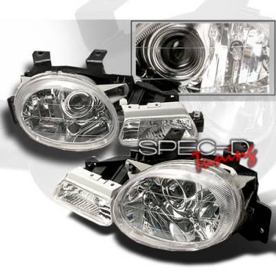 Custom Disco - Dodge Neon Custom Disco APC Projector Headlights & Parking Lights - LP-LHPNEO95-APC