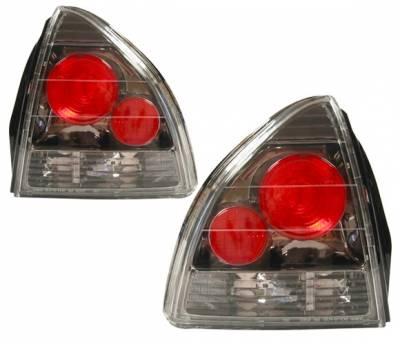 4 Car Option - Honda Prelude 4 Car Option Altezza Taillights - Gunmetal - LT-HP92G-YD