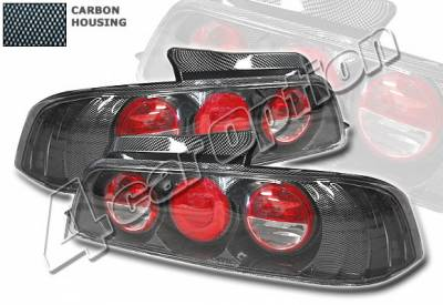 4 Car Option - Honda Prelude 4 Car Option Altezza Taillights - Carbon Fiber Style - LT-HP97F-YD