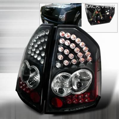 Custom Disco - Chrysler 300 Custom Disco Black LED Taillights - LT-300C05JMLED