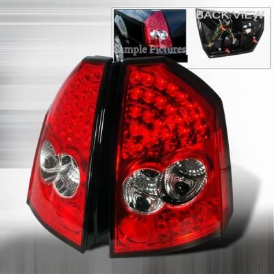 Custom Disco - Chrysler 300 Custom Disco Red LED Taillights - LT-300C05RLED