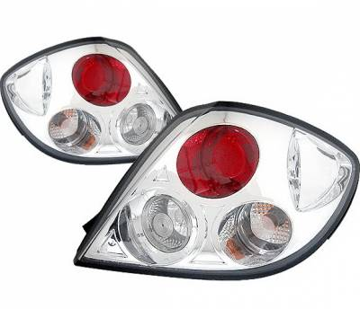 4 Car Option - Hyundai Tiburon 4 Car Option Taillights - Chrome - LT-HYT03A