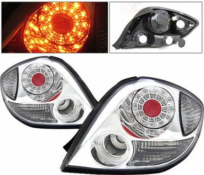 4 Car Option - Hyundai Tiburon 4 Car Option LED Taillights - Chrome - LT-HYT03LEDC-9