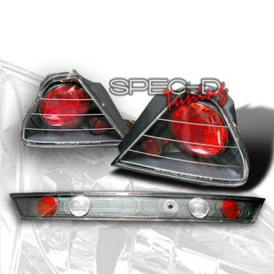 Custom Disco - Honda Accord 2DR Custom Disco Carbon Fiber Taillights - LT-ACD982CF-YD