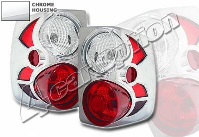 4 Car Option - Jeep Grand Cherokee 4 Car Option Altezza Taillights - Chrome - LT-JGC99A-KS