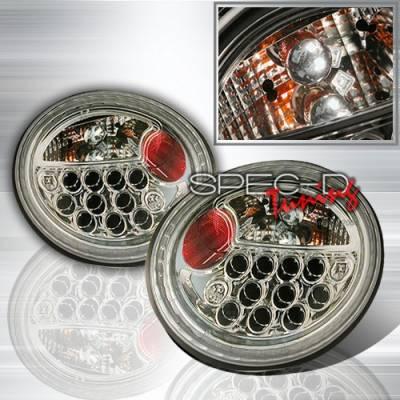 Custom Disco - Volkswagen Beetle Custom Disco Gunmetal LED Taillights - LT-BEE98LED