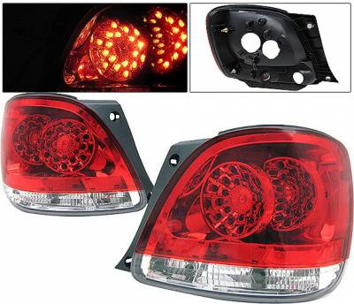 4 Car Option - Lexus GS 4 Car Option LED Taillights - Red & Clear - LT-LGS98LEDRC-KS