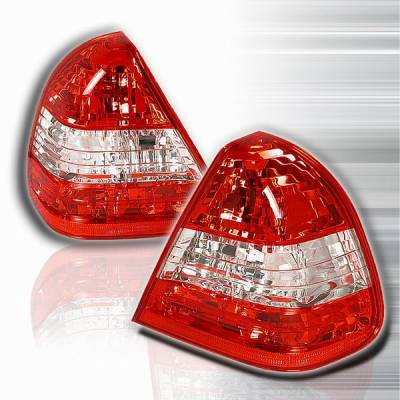 Custom Disco - Mercedes-Benz S Class Custom Disco Red & Clear Euro Taillights - LT-BW14094RPW