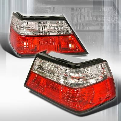 Custom Disco - Mercedes-Benz C Class Custom Disco Red & Clear Euro Taillights - LT-BW20294RPW