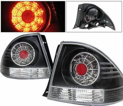 4 Car Option - Lexus IS 4 Car Option LED Taillights - Black - LT-LIS300LEDJB-YD