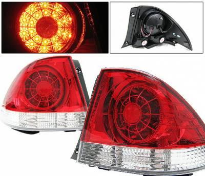 4 Car Option - Lexus IS 4 Car Option LED Taillights - Red & Clear - LT-LIS300LEDRC-YD