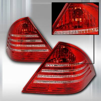 Custom Disco - Mercedes-Benz C Class Custom Disco Red & Clear JDM Taillights - LT-BW20301RPW