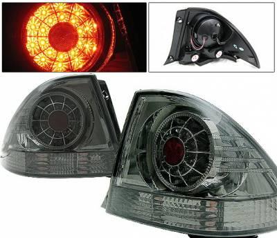 4 Car Option - Lexus IS 4 Car Option LED Taillights - Smoke - LT-LIS300LEDSM-YD