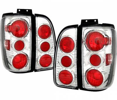 4 Car Option - Lincoln Navigator 4 Car Option Altezza Taillights - Chrome - LT-LN01A-KS